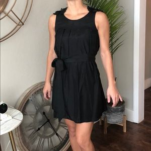 Little black dress! 100% Silk with flower accents